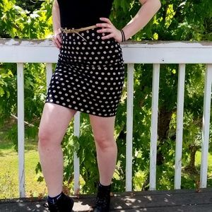 Gold and Black Pokedot Skirt